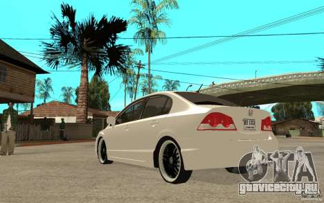 Honda Civic FD для GTA San Andreas вид сзади слева