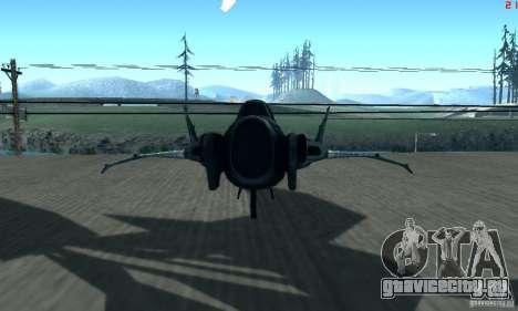 BatWing для GTA San Andreas вид сзади слева
