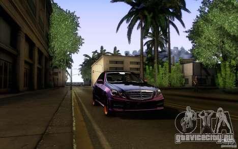 Mercedes Benz E63 DUB для GTA San Andreas вид сверху