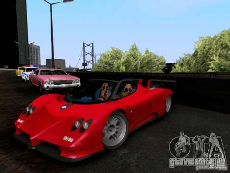 Pagani Zonda EX-R для GTA San Andreas вид сзади