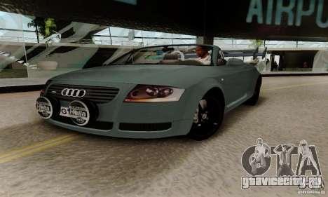 Audi TT Roadster для GTA San Andreas вид изнутри