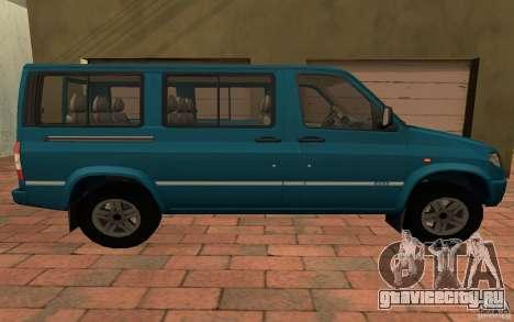 УАЗ 3165 Симба для GTA San Andreas вид сзади слева