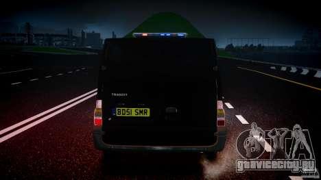 Ford Transit SWAT [ELS] для GTA 4 салон