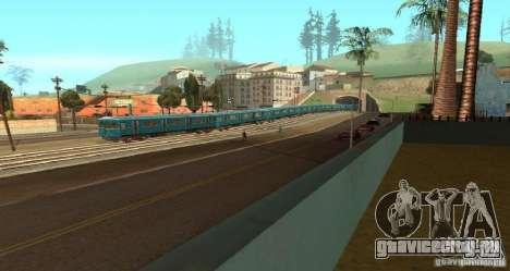 Метро типа ЕЖ для GTA San Andreas вид справа