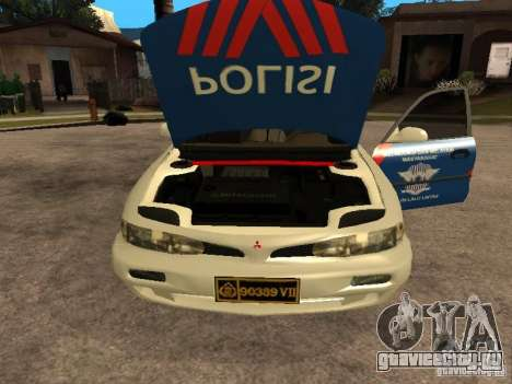 Mitsubishi Galant Police Indanesia для GTA San Andreas вид справа