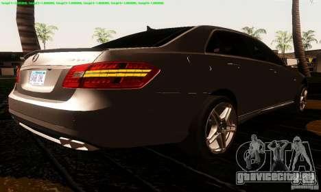 Mercedes-Benz E63 AMG 2010 для GTA San Andreas вид слева