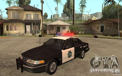 Ford Crown Victoria SFPD 1992 для GTA San Andreas