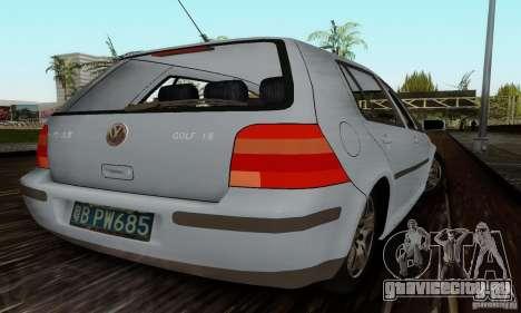 Volkswagen Golf 4 1.6 для GTA San Andreas вид сзади слева