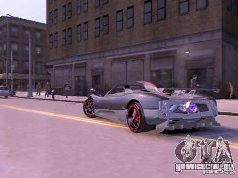 Pagani Zonda Cinque Roadster v 2.0 для GTA 4 вид сзади