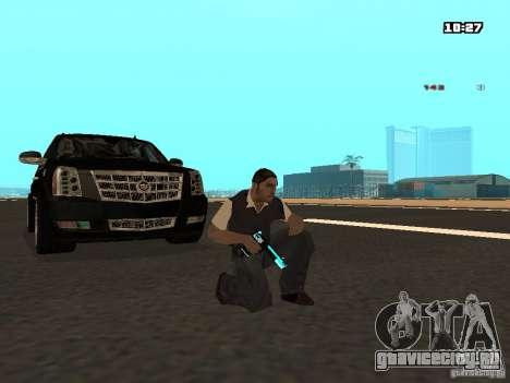Black & Blue guns для GTA San Andreas второй скриншот