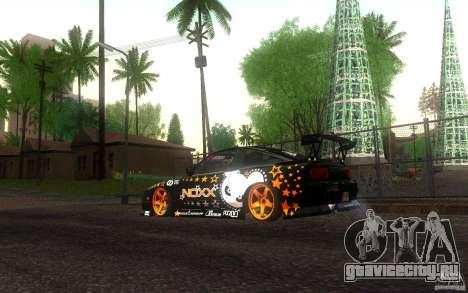 Nissan Silvia RPS13 Noxx для GTA San Andreas вид сзади слева
