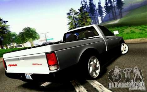 GMC Syclone Stock для GTA San Andreas вид изнутри