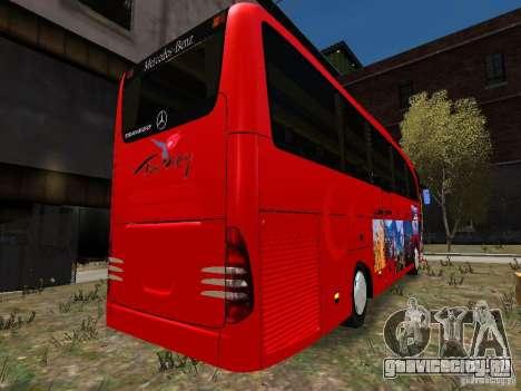 Mercedes Travego для GTA 4 вид сзади