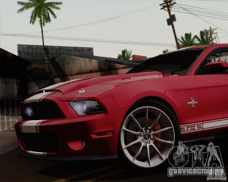 Ford Shelby GT500 Super Snake 2011 для GTA San Andreas вид сзади слева
