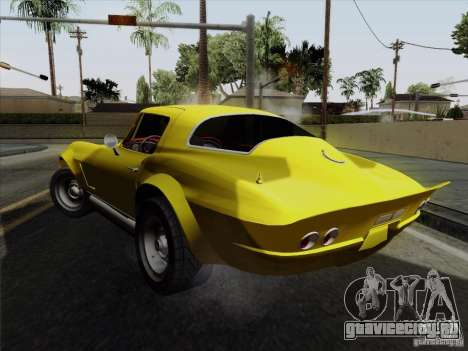Chevrolet Corvette 1967 для GTA San Andreas вид сзади слева