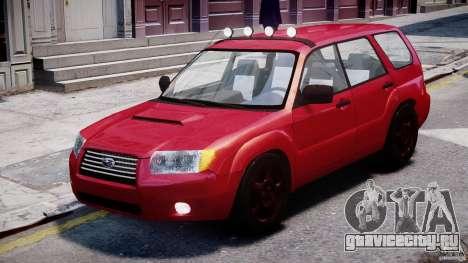 Subaru Forester v2.0 для GTA 4 вид слева