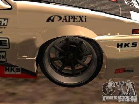 Toyota AE86 Coupe для GTA San Andreas вид сзади