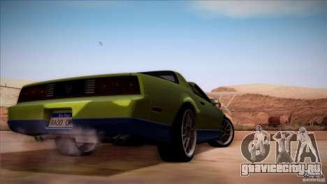 Pontiac Firebird Trans Am для GTA San Andreas вид справа