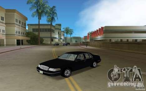 Ford Crown Victoria для GTA Vice City вид сзади слева