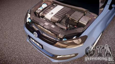 Volkswagen Polo 2011 для GTA 4 вид снизу