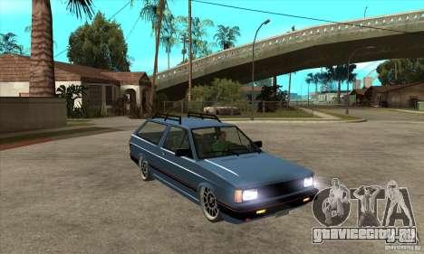 VW Fox 1989 v.2.0 для GTA San Andreas вид сзади