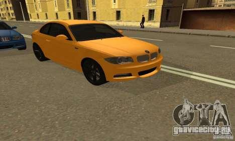 BMW 135i Coupé для GTA San Andreas вид сзади слева