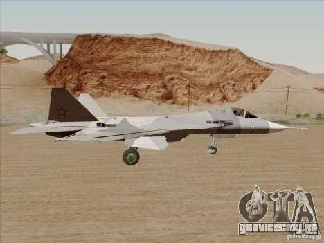 T-50 Pak Fa для GTA San Andreas вид сзади