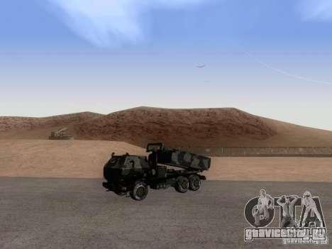 M142 HIMARS Artillery для GTA San Andreas вид справа