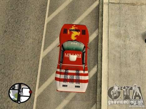 Ferrari 288 Gto для GTA San Andreas вид справа