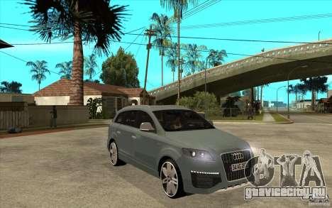 Audi Q7 V12 TDI 2011 для GTA San Andreas вид сзади