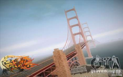 New Golden Gate bridge SF v1.0 для GTA San Andreas четвёртый скриншот