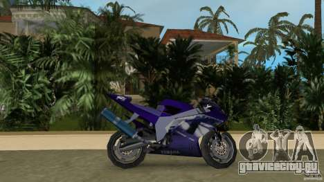 Yamaha YZF R1 для GTA Vice City вид слева
