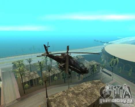 КА-50 Чёрная Акула для GTA San Andreas вид слева