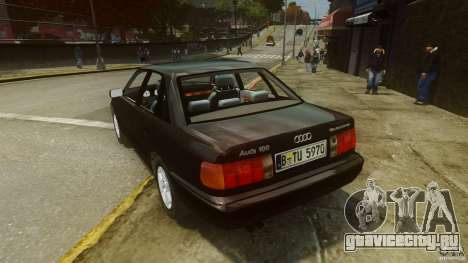 Audi 100 C4 1992 для GTA 4 вид сзади слева