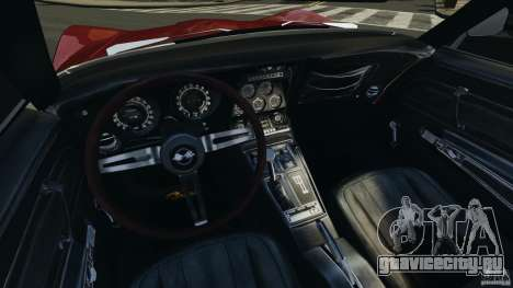 Chevrolet Corvette Stringray 1969 v1.0 [EPM] для GTA 4 вид сзади