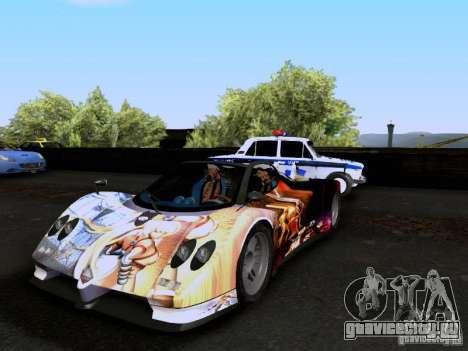 Pagani Zonda EX-R для GTA San Andreas вид снизу