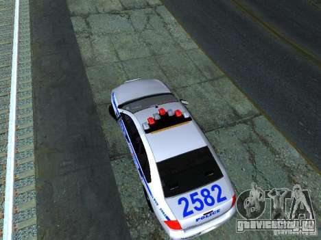 Chevrolet Impala NYPD для GTA San Andreas вид сзади
