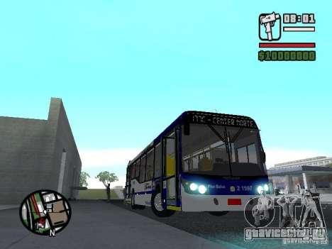 Busscar Urbanuss Ecoss MB 0500U Sambaiba для GTA San Andreas вид изнутри