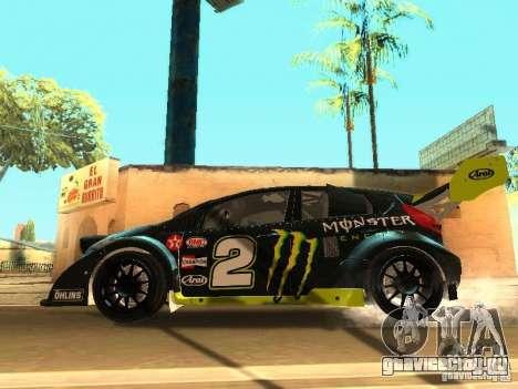 Ford Fiesta Rally Time для GTA San Andreas вид снизу