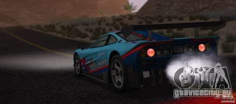 McLaren F1 JGTC Tuning 1995 для GTA San Andreas вид изнутри
