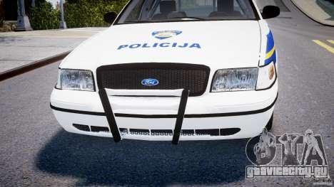 Ford Crown Victoria Croatian Police Unit для GTA 4 вид снизу