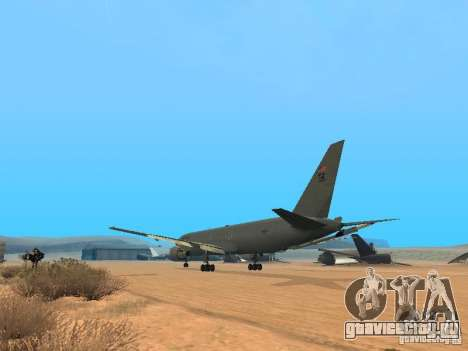 Boeing KC767 U.S Air Force для GTA San Andreas вид сзади слева