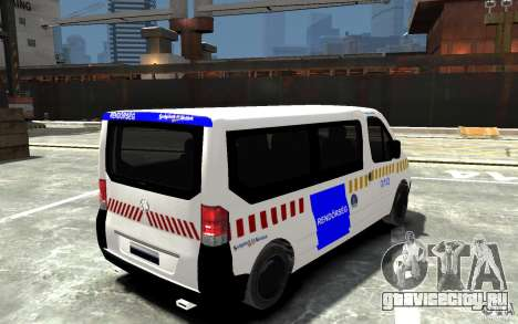 Opel Vivaro Hungarian Police Van для GTA 4 вид справа
