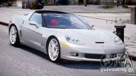 Chevrolet Corvette Grand Sport 2010 v2.0 для GTA 4 вид сзади