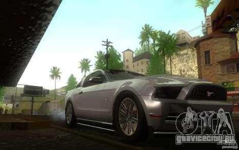 Ford Mustang GT V6 2011 для GTA San Andreas вид сзади