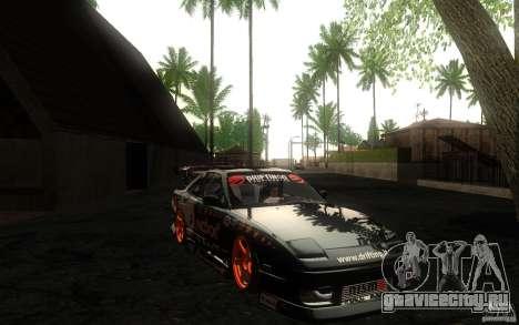 Nissan Silvia RPS13 Noxx для GTA San Andreas вид изнутри