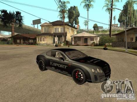 Bentley Continental SS Skin 4 для GTA San Andreas вид справа