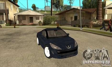 Peugeot RCZ 2011 для GTA San Andreas вид сзади