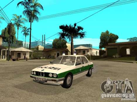BMW E30 323i Polizei для GTA San Andreas