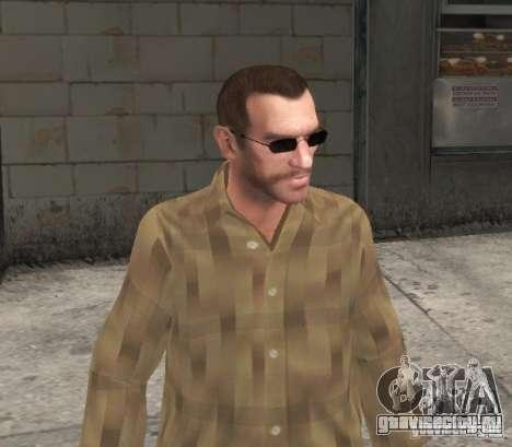 Новые очки для Нико - черные для GTA 4 третий скриншот